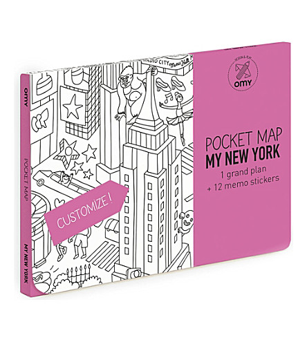 OMY New York City pocket colouring map