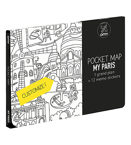 OMY Paris pocket colouring map