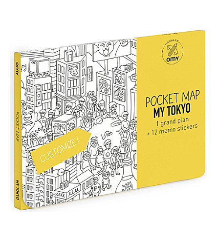 OMY Tokyo pocket colouring map