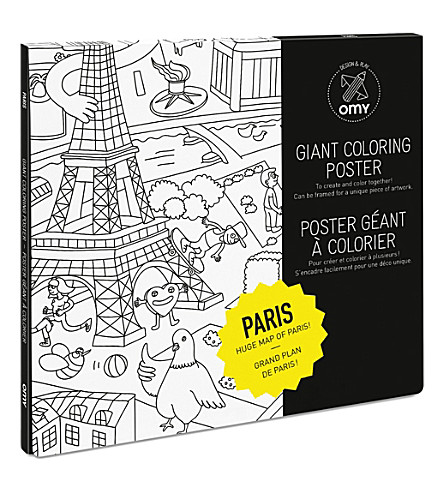 OMY OMY Paris Giant Colouring Poster