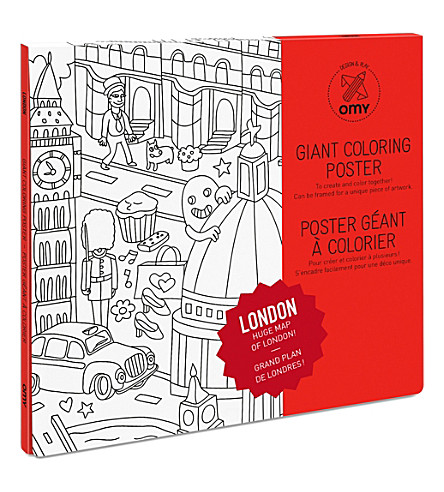 OMY OMY London Giant Colouring Poster