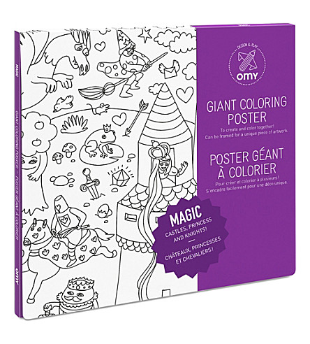 OMY OMY Magic Giant Colouring Poster