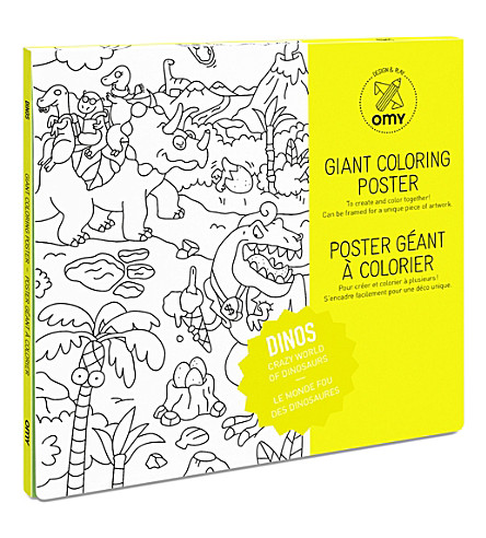 OMY Dinos giant colouring poster