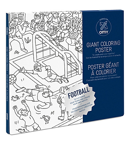 OMY Football giant colouring poster