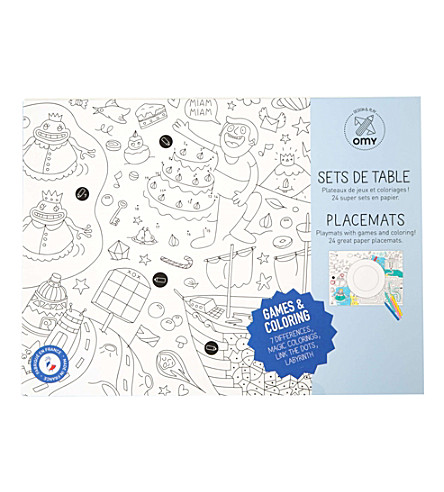 OMY Games colouring placemats