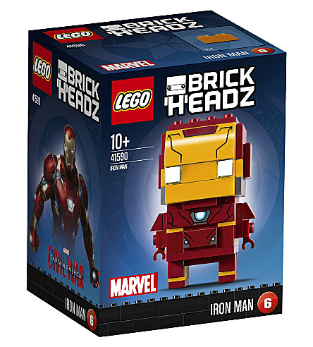 LEGO Brick headz iron man figure