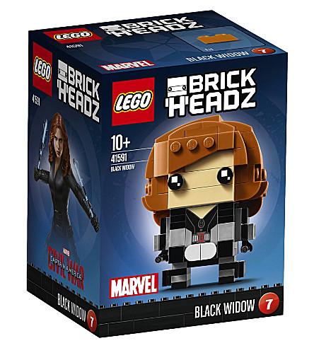 LEGO Brick headz black widow figure