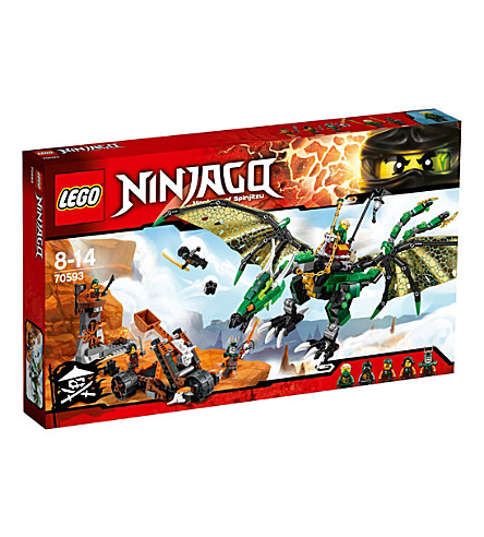 LEGO Ninjago: Masters of Spinjitzu Green NRG Dragon play set