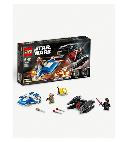 LEGO Star Wars A-Wing vs. TIE Silencer Microfighters playset