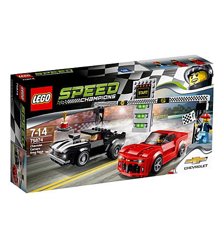 LEGO Chevrolet camaro drag race set