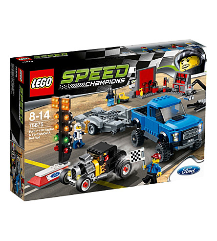 LEGO Ford F-150 raptor and Model A hot rod set