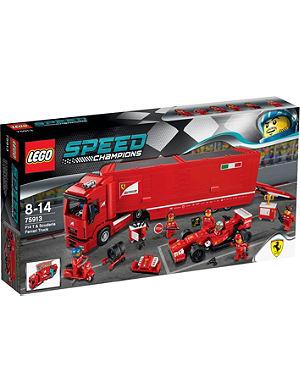 LEGO Speed Scuderia Ferrari truck and racing car set