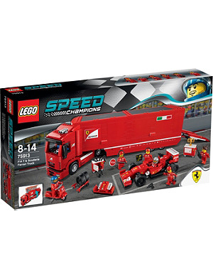 LEGO Speed Scuderia Ferrari truck and racing car set