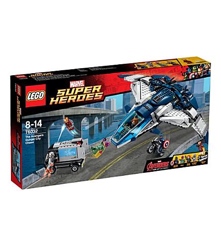 LEGO Superheroes avengers quinjet city chase
