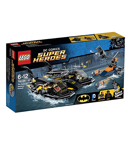 LEGO Superheroes batboat pursuit