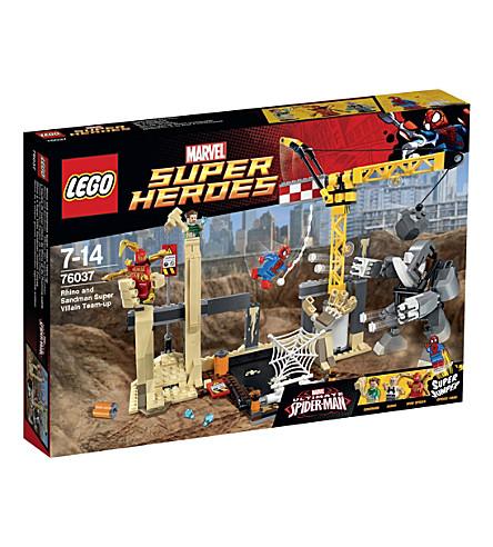 LEGO Superheroes rhino & sandman supervillain team-up