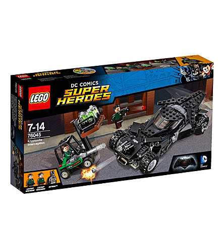 LEGO DC kryptonite interception set