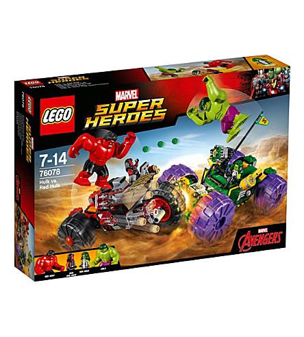 LEGO 惊叹的绿巨人与红绿巨人的超级英雄