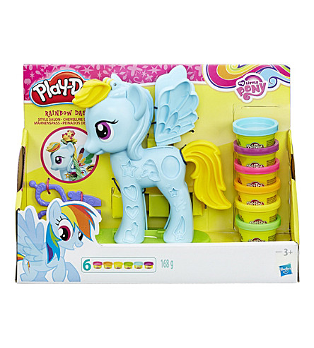 PLAYDOH Rainbow Dash salon playset