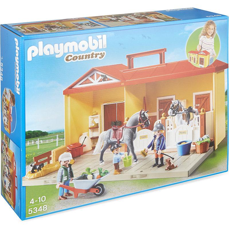 Playmobil Take Along Horse Stable Playmobil Take Along Horse