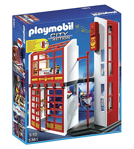 PLAYMOBIL City Action fire station play set