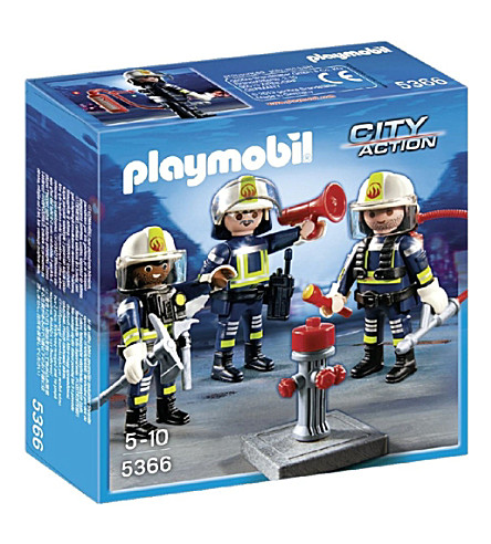 PLAYMOBIL Firemen team play set