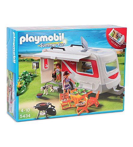 PLAYMOBIL Summer fun caravan set