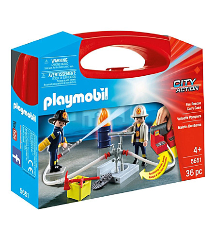 PLAYMOBIL Fire Rescue Carry Case Playset