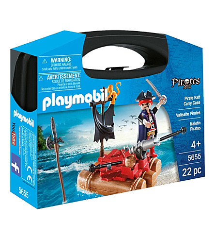PLAYMOBIL Pirate Raft Carry Case Playset