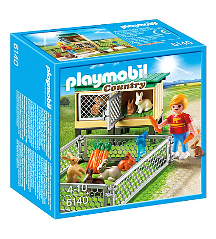 PLAYMOBIL Country rabbit pen with hutch playset
