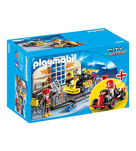 PLAYMOBIL Go Kart Garage Playset