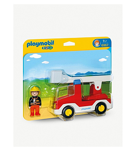 PLAYMOBIL 1.2.3 Ladder unit with fire truck