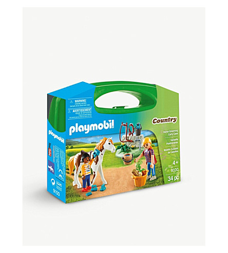 PLAYMOBIL Country Horse Grooming carry case