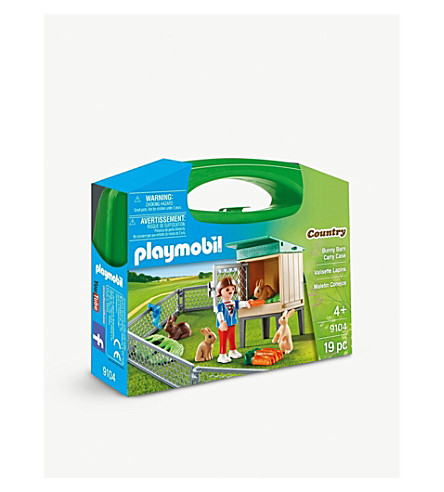 PLAYMOBIL Country Rabbit Pen carry case