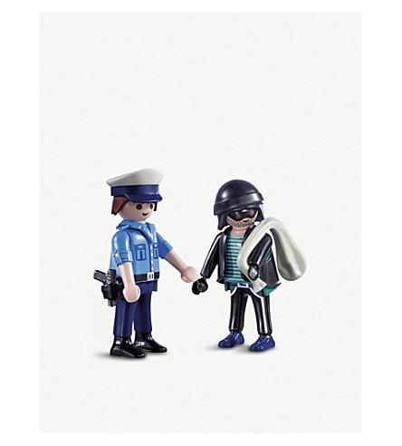PLAYMOBIL City Action policeman and Burglar duo pack