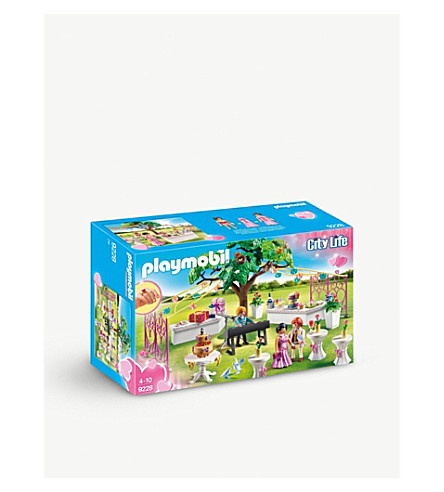 PLAYMOBIL City Life Wedding Reception playset
