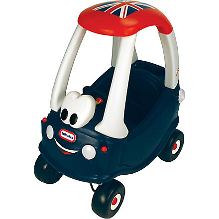 LITTLE TIKES GB Cozy Coupe with Union Jack flag