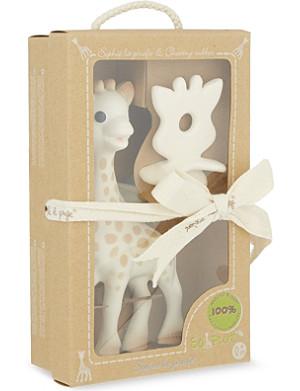 SOPHIE THE GIRAFFE Rubber chew and giraffe set