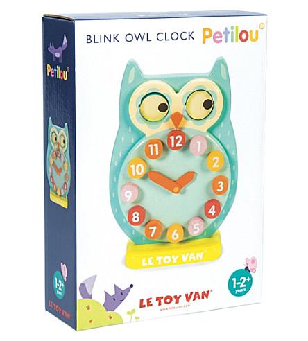LE TOY VAN Petilou blink wooden owl clock