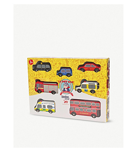 LE TOY VAN London wooden vehicle set