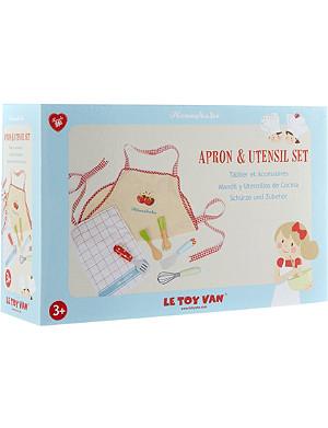 LE TOY VAN Apron and utensil set