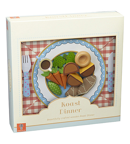 ORANGE TREE TOYS Wooden roast dinner toy set