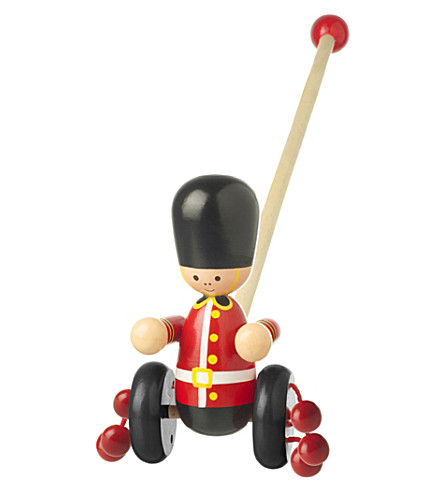 ORANGE TREE TOYS Push Along wooden soldier