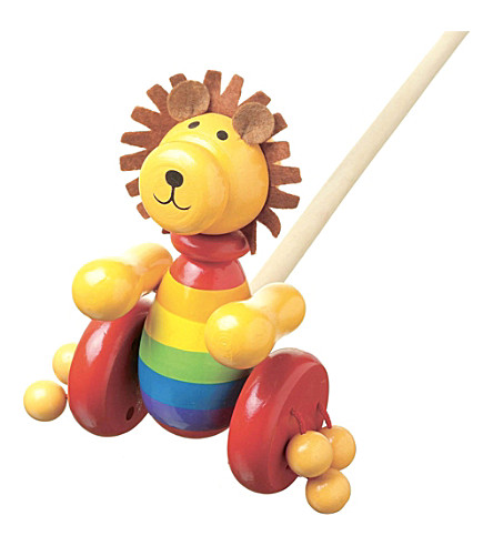 ORANGE TREE TOYS Push Along wooden lion