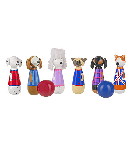 ORANGE TREE TOYS Puppy Love wooden skittles