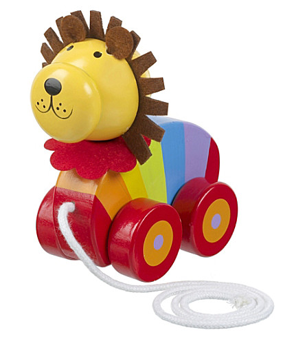 ORANGE TREE TOYS Lion wooden pull-along toy