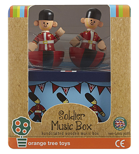 ORANGE TREE TOYS Soldier wooden music box