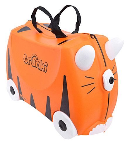 TRUNKI Tipu Tiger children's wheeled hand luggage case