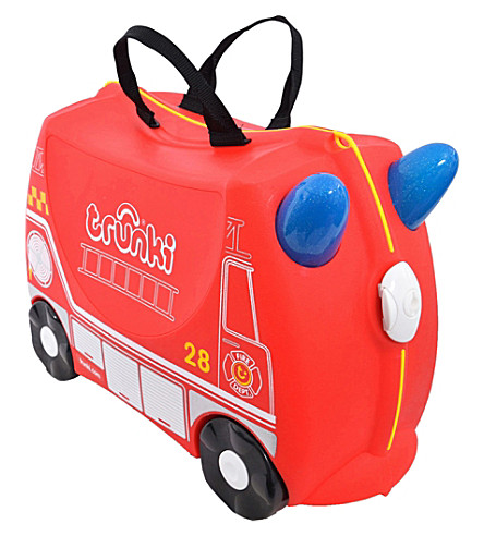 TRUNKI Frank the Fire Truck children's wheeled hand luggage