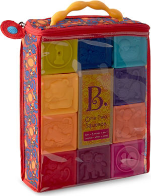 B PRESCHOOL TOYS One two squeeze blocks